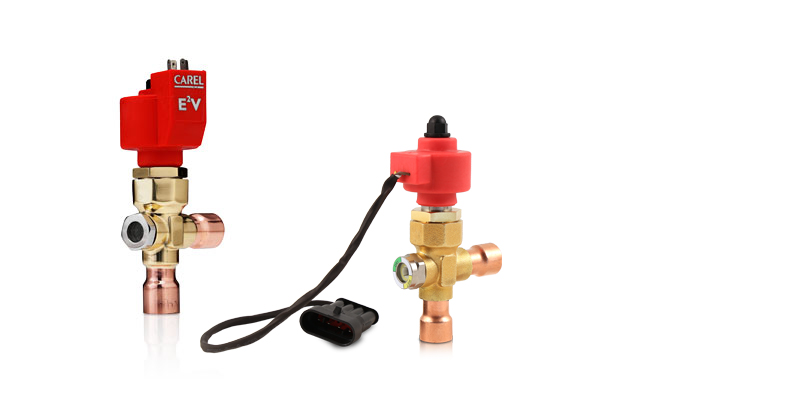CAREL E2V electronic expansion valve for low capacity applications